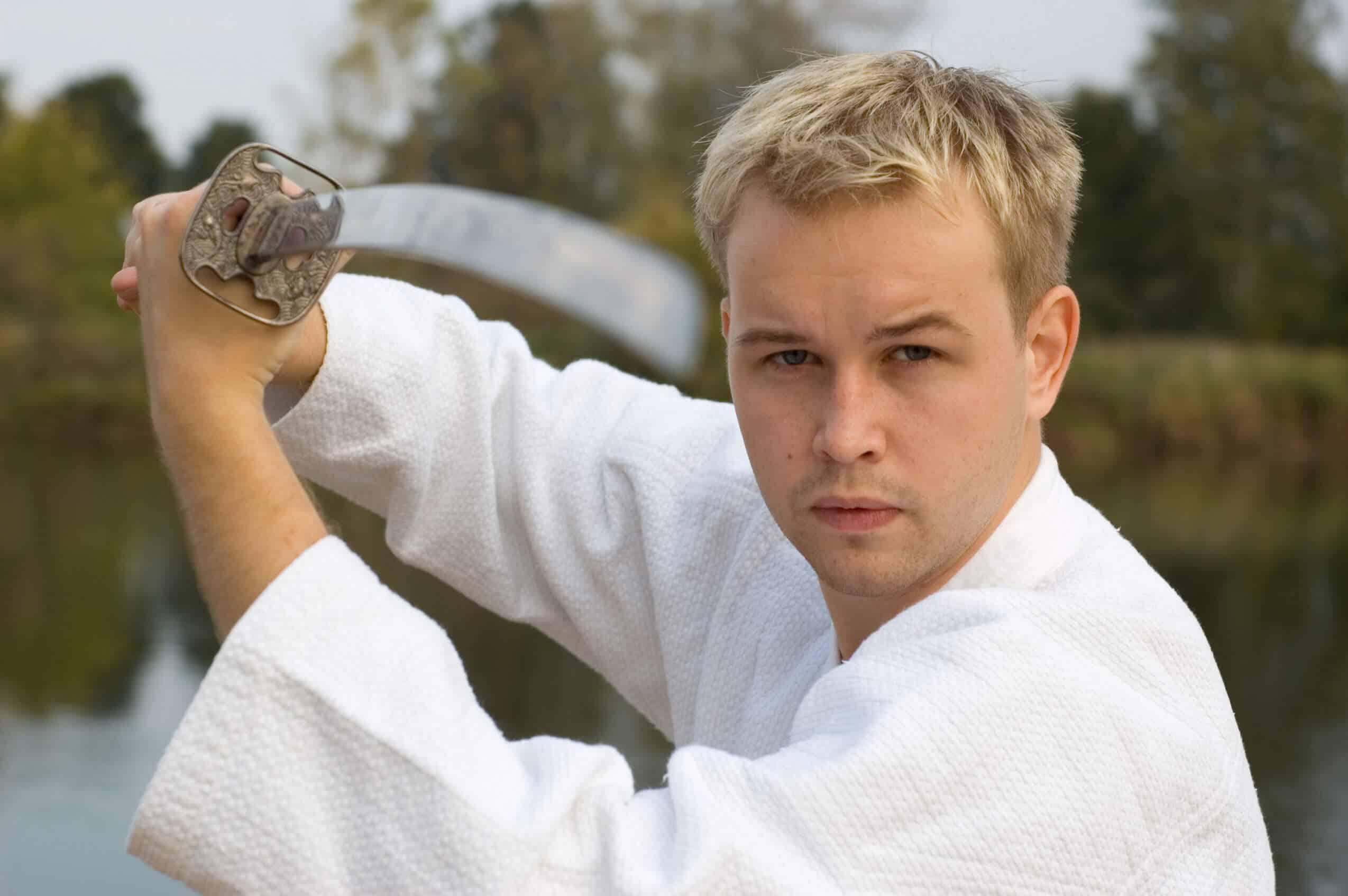 Martial Arts Lessons for Adults in Bossier City LA - Samurai Sword Posing Blog