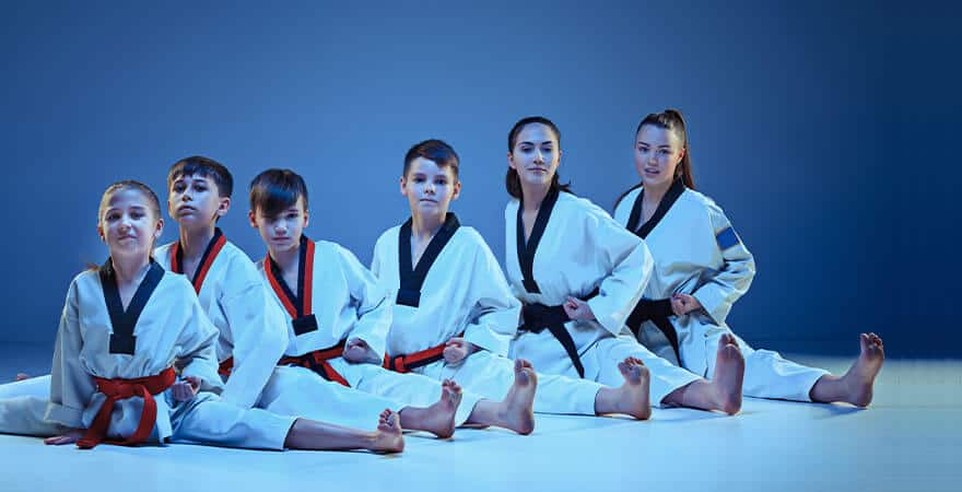 Martial Arts Lessons for Kids in Bossier City LA - Kids Group Splits