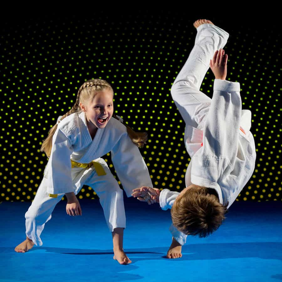 Martial Arts Lessons for Kids in Bossier City LA - Judo Toss Kids Girl