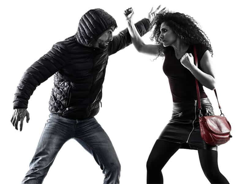 Self-Defense Program for Adults in Bossier City LA - Blocking Punch Woman
